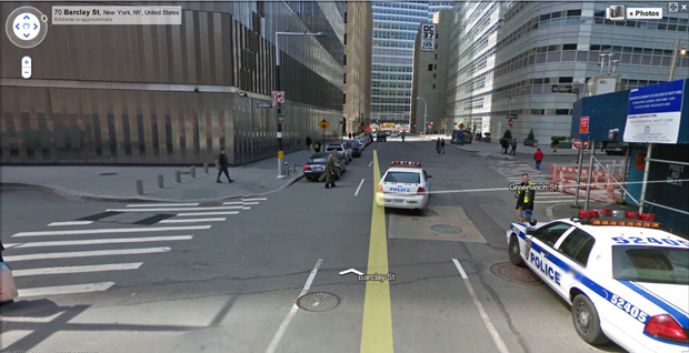 Google Street View map
