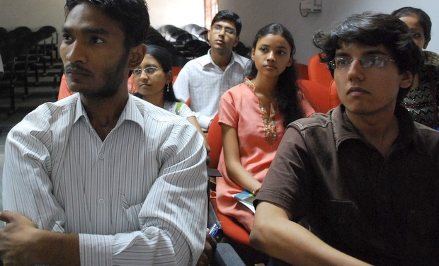 Indian students at a training