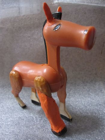 Fisher Price toy horse with repaired leg
