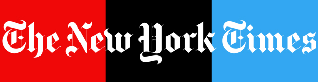 New York Times logo with NPR colors