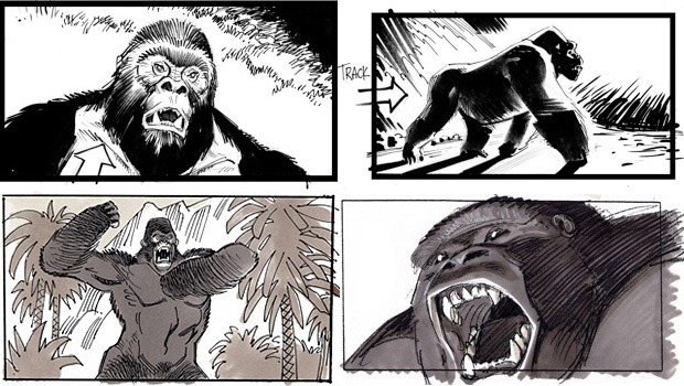 Rise of the Planet of the Apes storyboards