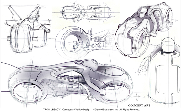 Product Design Line Art : How tron legacy light cycle designers made the sexiest