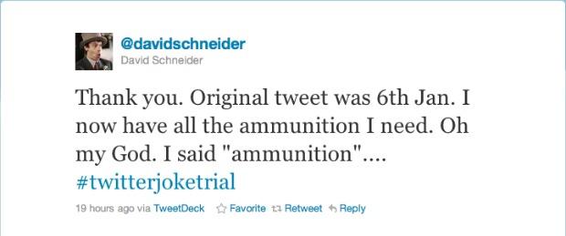 Twitter joke trial