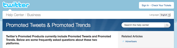 Twitter promoted products