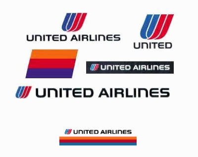 the new united continental logo flying a little too close together