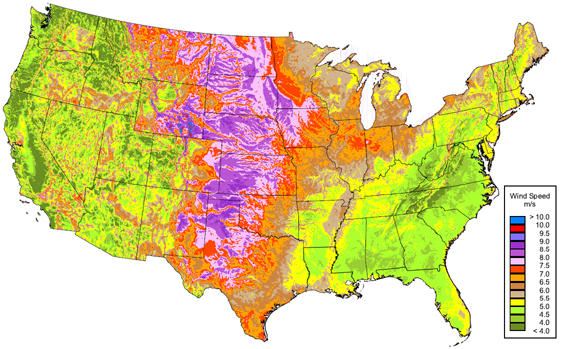 The Top 10 States For Wind Power - Map Of The Wind Farms In The Us