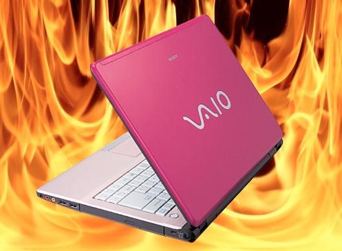 Sony Vaio burns