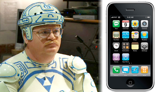 Tron guy and iPhone