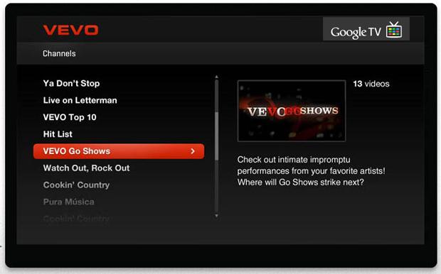 Vevo Partners With Google TV, Takes Aim at MTV
