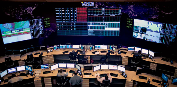 The command room inside Visa's Operations Center East, where your last credit-card purchase was scrutinized. | Photo by Melissa Golden