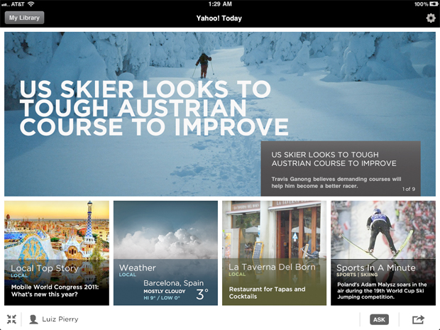 Yahoo's New Digital Tablet Newsstand Takes on Flipboard
